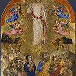 Jacopo di Cione and workshop – The Ascension, Part 4 National Gallery UK