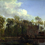 Part 4 National Gallery UK - Jan van der Heyden - A Farm among Trees