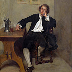 A Man in Black smoking a Pipe, Jean-Louis Ernest Meissonier