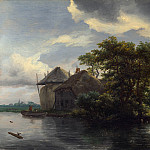 A Cottage and a Hayrick by a River, Jacob Van Ruisdael