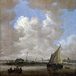 Jan van Goyen – A River Scene, with a Hut on an Island, Part 4 National Gallery UK