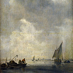 Jan van Goyen – A River Scene, with Fishermen laying a Net, Part 4 National Gallery UK