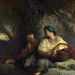 The Whisper, Jean-François Millet