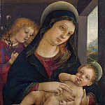 Part 4 National Gallery UK - Liberale da Verona - The Virgin and Child with Two Angels