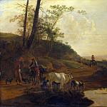 Part 4 National Gallery UK - Jan Both - Men with an Ox and Cattle by a Pool