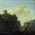 Part 4 National Gallery UK - Lodewijck van Ludick - A River between Rocky Cliffs