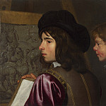 Jacob van Oost the Elder – Two Boys before an Easel, Part 4 National Gallery UK