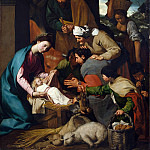 Italian, Neapolitan – The Adoration of the Shepherds, Part 4 National Gallery UK