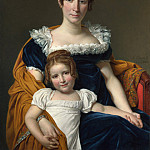 Part 4 National Gallery UK - Jacques-Louis David - Portrait of the Comtesse Vilain XIIII and her Daughter