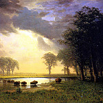 Bierstadt Albert The Buffalo Trail, Albert Bierstadt