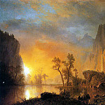 Bierstadt Albert Sunset in the Rockies, Albert Bierstadt