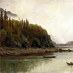 Bierstadt Albert Indians Fishing, Albert Bierstadt