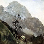 Bierstadt Albert Western Trail the Rockies, Albert Bierstadt