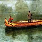 Bierstadt Albert Fishing from a Canoe, Albert Bierstadt