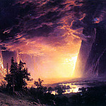 Albert Bierstadt - Bierstadt Albert Sunset in the Yosemite Valley