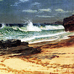 Bierstadt Albert Beach at Nassau, Albert Bierstadt