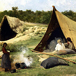 Bierstadt Albert Indian Camp, Albert Bierstadt
