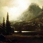Bierstadt Albert By a Mountain Lake, Albert Bierstadt