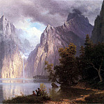Albert Bierstadt - Bierstadt Albert Scene in the Sierra Nevada