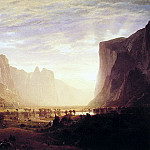 Albert Bierstadt - Looking Down Yosemite-Valley
