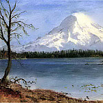Bierstadt Albert Lake in the Rockies, Albert Bierstadt