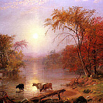 Bierstadt Albert Indian Summer Hudson River, Albert Bierstadt