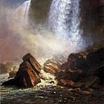 Bierstadt Albert Falls of Niagara from Below, Albert Bierstadt