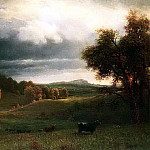 Albert Bierstadt - Bierstadt Albert Autumn Landscape The Catskills