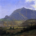 Bierstadt Albert Indian Encampment, Albert Bierstadt