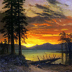 Bierstadt Albert Sunset over the River, Albert Bierstadt
