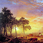 The Oregon Trail, Albert Bierstadt