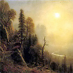 Study for Yosemite Valley Glacier Point Trail, Albert Bierstadt