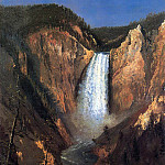 Albert Bierstadt - Bierstadt Albert Lower Yellowstone Falls