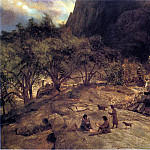 Albert Bierstadt - Bierstadt Albert Mariposa Indian Encampment Yosemite Valley California