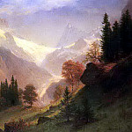 Bierstadt Albert View of the Grindelwald, Albert Bierstadt