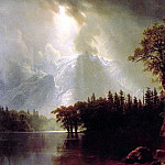 Passing Storm over the Sierra Nevada, Albert Bierstadt