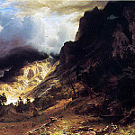 Bierstadt Albert A Storm in the Rocky Mountains Mr. Rosalie, Albert Bierstadt