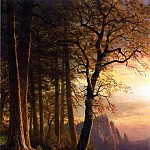Bierstadt Albert Sunset in California Yosemite, Albert Bierstadt