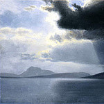 Bierstadt Albert Approaching Thunderstorm on the Hudson River, Albert Bierstadt