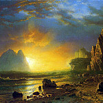 Albert Bierstadt - Bierstadt Albert Sunset on the Coast