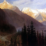 Bierstadt Albert Sunrise at Glacier Station, Albert Bierstadt