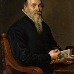 Metropolitan Museum: part 4 - Attributed to David Bailly - Portrait of a Man, Possibly a Botanist