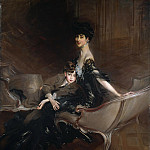 Consuelo Vanderbilt (), Duchess of Marlborough, and Her Son, Lord Ivor Spencer-Churchill (1898–1956), Giovanni Boldini