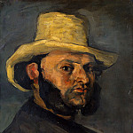 Gustave Boyer (b. 1840) in a Straw Hat, Paul Cezanne