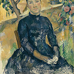 Madame Cézanne (née Hortense Fiquet, 1850–1922) in the Conservatory, Paul Cezanne