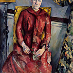 Madame Cézanne (née Hortense Fiquet, 1850–1922) in a Red Dress, Paul Cezanne