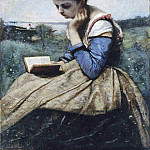 Camille Corot – A Woman Reading, Metropolitan Museum: part 4