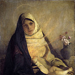 Pascal-Adolphe-Jean Dagnan-Bouveret – Madonna of the Rose, Metropolitan Museum: part 4