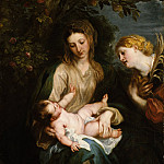Anthony van Dyck – Virgin and Child with Saint Catherine of Alexandria, Metropolitan Museum: part 4