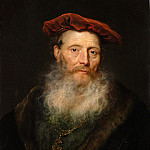 Bearded Man with a Velvet Cap, Govert Teunisz Flinck